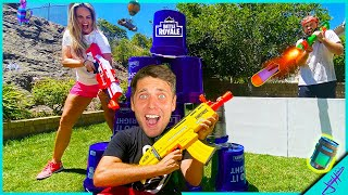 Real Life YOUTUBER BATTLE ROYALE *NERF Fortnite HIDE and SEEK Challenge!*