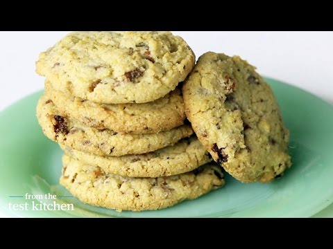 Cornmeal Chocolate-Chunk Cookies with Raisins – From the Test Kitchen