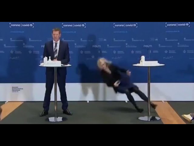 Tanja Erichsen collapsed during the press conference announcing the #AstraZeneca discontinuation