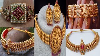 Gold Collar / Chik Set Designs    Traditional Indian Jewelry