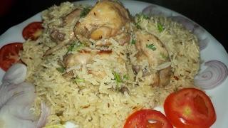 Chicken akni pulao or white chicken pulao