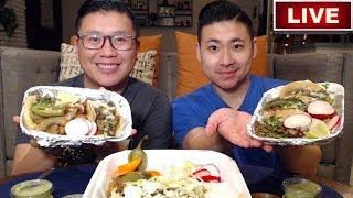 MEXICAN FOOD MUKBANG - TACOS & FLAUTAS