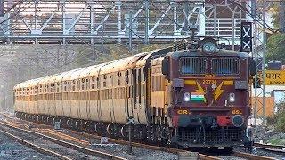 Chocolaty Brown BSL WAG-5 Powering Nagpur Garibrath Express Crossing Hadapsar | Kholo.pk