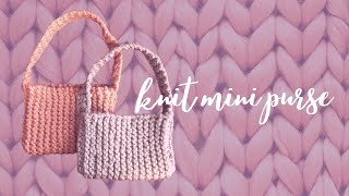knit mini purse | knit with me