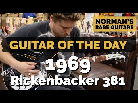 Guitar of the Day: 1969 Rickenbacker 381-6 Jetglo | Norman's Rare Guitars
