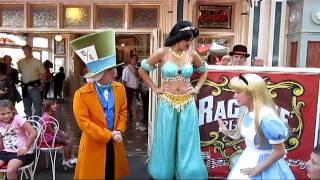 Princess Jasmine plays Musical Chairs at Disneyland