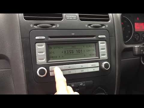 How to activate aux RCD300 mp3