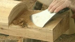 Dovetail notch log cabin. How to cut a dovetail notch Tutorial