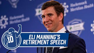 Eli Manning Retirement Press Conference | New York Giants