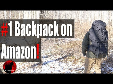 Best Selling Pack on Amazon – AmazonBasics 55L Backpack with Rainfly