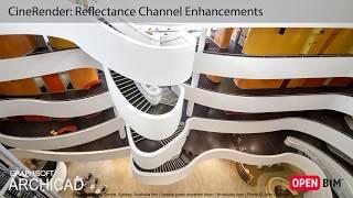 ARCHICAD 21 - CineRender: Reflectance Channel Enhancements