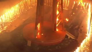 バレンシアの火祭りの最終日