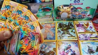 5 MEGA CHARIZARD EX PULLS! THE BEST FAKE POKEMON EVOLUTIONS BOOSTER BOX - PART 1