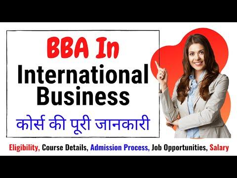 BBA International Business Course Details | International Business Management