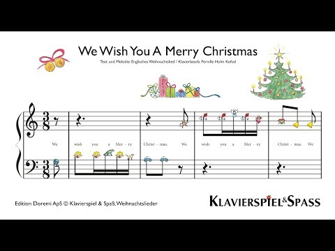 We Wish You A Merry Christmas, Weihnachtslieder, Klavier