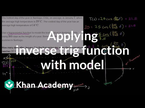 Trig word problem: solving for temperature (video) | Khan