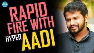 Rapid Fire With Hyper Aadi || Anchor Komali Tho Kaburlu