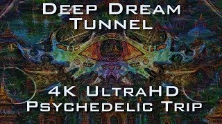 Deep Dream Tunnel Trip 4K - Psychedelic Fractal Ayahuasca DMT Experience in UltraHD
