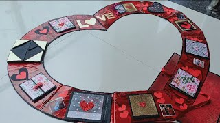 Giant Fold Heart Card Tutorial||How To Make Giant Fold Heart Card || Giant Fold Heart Card Making