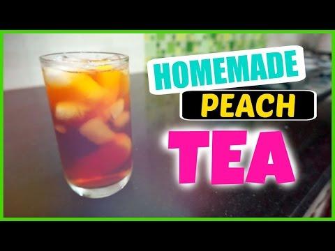 Easy Homemade Peach Iced Tea | Tự làm trà đào tại nhà