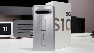 Official Samsung Galaxy S10 5G Protective Standing Cover Review