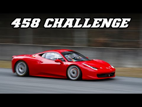 Ferrari 458 Challenge - LOUD downshifts