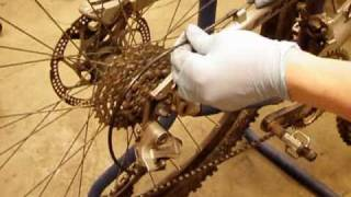 How to service ( lubricate ) a bicycle derailleur cable. ( No Tools ) adjust cables