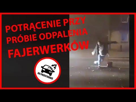 Wideo1: Potrącenie przy próbie odpalenia fajerwerków w Kościanie - drastyczne sceny!