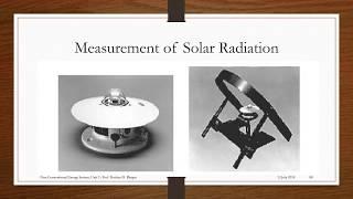 Solar Radiation || Pyranometer || Sunshine Recorder || Radiation Measuring Instrument ||