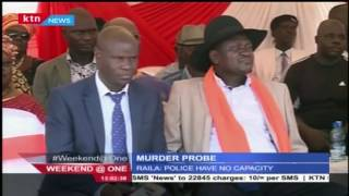 Raila Odinga accused police of inability to probe murder cases that have occurred in the recent pas