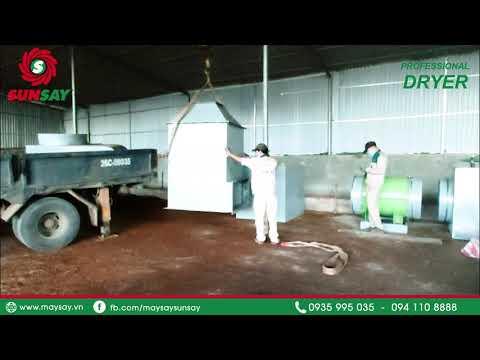 Lắp đặt máy sấy vĩ ngang 10 tấn sấy dược liệu đến Sơn La