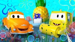 Autogaráž pro děti - Ze Steva je Sponge Bob - Tomova Autolakovna ve Městě Aut