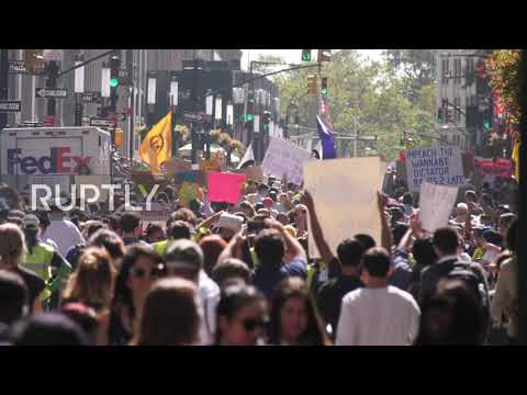 USA: Tens of thousands flood NYC streets for global climate action strike