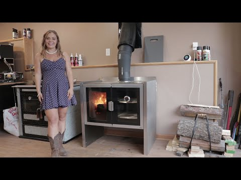 Firebelly Razen Wood Cook Stove - Cooking on the Cook Top