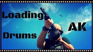 How To Loading AK47 Drum Magazines Rear Loaders