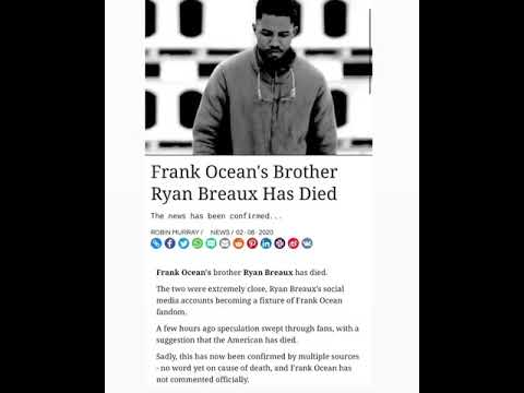 Frank Ocean's Younger Brother Dies Suddenly