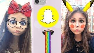 Коллекция мордочек SnapChat! СМЕШНЫЕ ФИЛЬТРЫ ИЗ СНАПЧАТА!