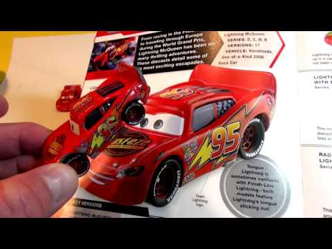 PIXAR CARS LIGHTNING MCQUEEN COLLECTION ,CHARACTER ENCYCLOPEDIA PART 1