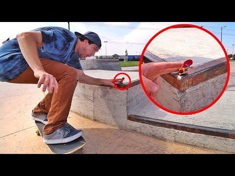 Tech Deck at a REAL Skatepark!!