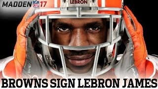 Browns sign LeBron James to play QB | #Madden