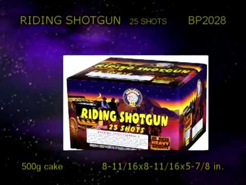 Riding Shotgun Cake by Brothers Pyrotechnics -- BP2028
