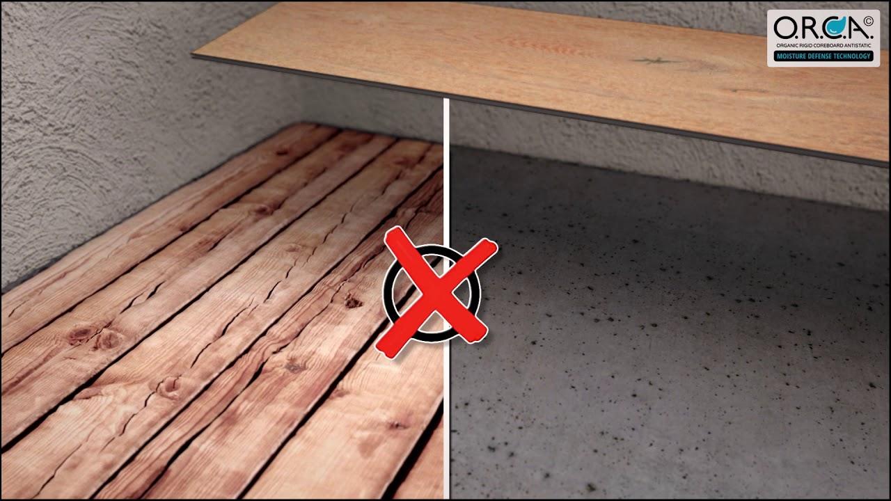 H2O-floor installation