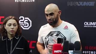 Интервью Шамиля Абдурахимова после боя UFC Moscow