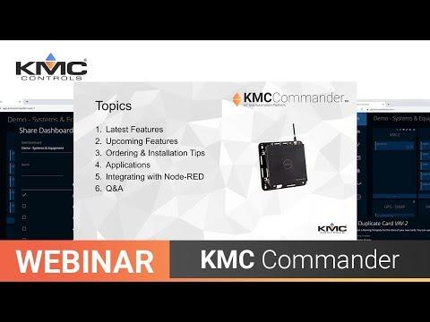 Webinar: KMC Commander Node RED, Updates & More | 10.29.19