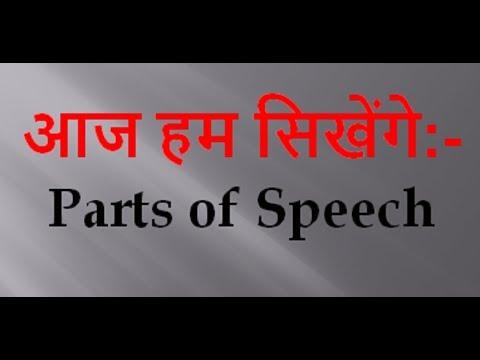 Parts of Speech (English)