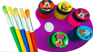 Learn Color Play Doh Mickey Mouse Hand Body Paint Nursery Rhymes Finger Family