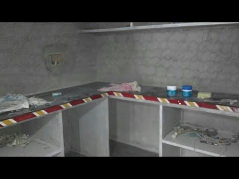 Granite marble flooring kitchen platform design