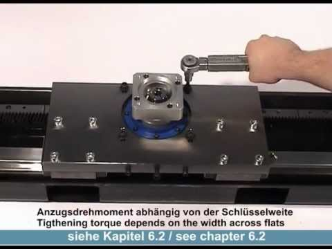 Montage - Ritzel-Zahnstangensysteme von WITTENSTEIN alpha