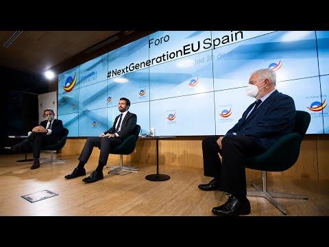 Casado clausura el Foro #NextGenerationEu Spain de la Fundación Concordia y Libertad