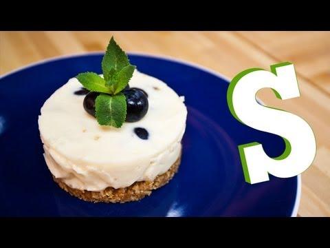 Tvarohový dortík s borůvkami